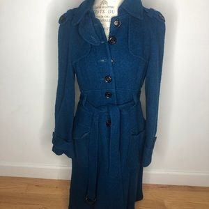 Nanette Lepore trench style coat. Wool blend sz 12